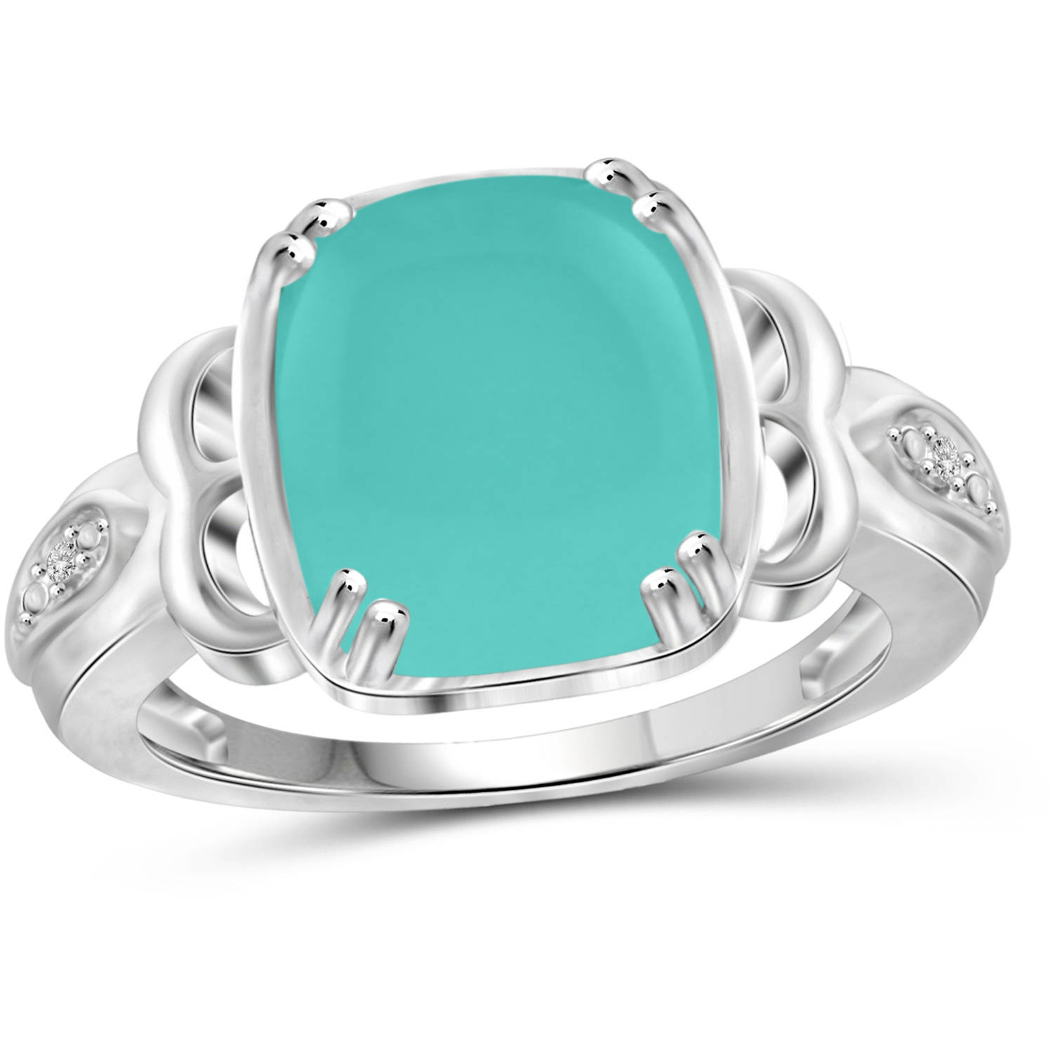 JewelersClub 5 Carat T.G.W. Chalcedony and White Diamond Accent Sterling Silver Fashion Ring by JewelersClub