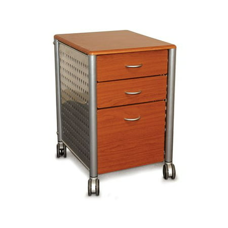 Innovex Mobile Filing Cabinet, Medium Cherry