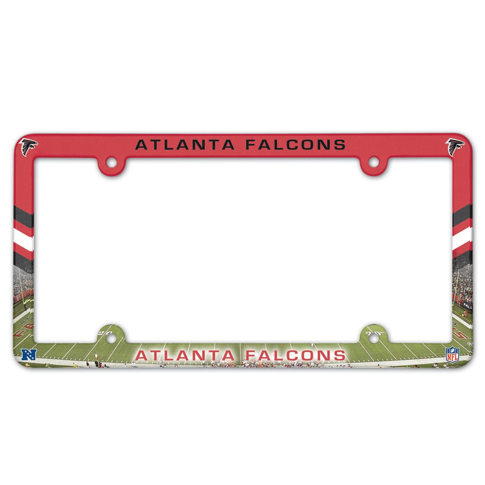Atlanta Falcons Official NFL 12 inch x 6 inch  Plastic License Plate Frame by Wincraft