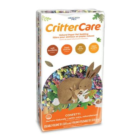 CritterCare Confetti Natural Paper Small Pet Bedding, 10L