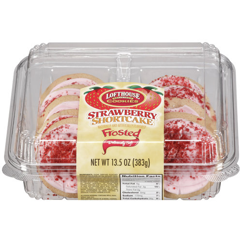 Lofthouse Frosted Strawberry Shortcake Cookies, 10ct