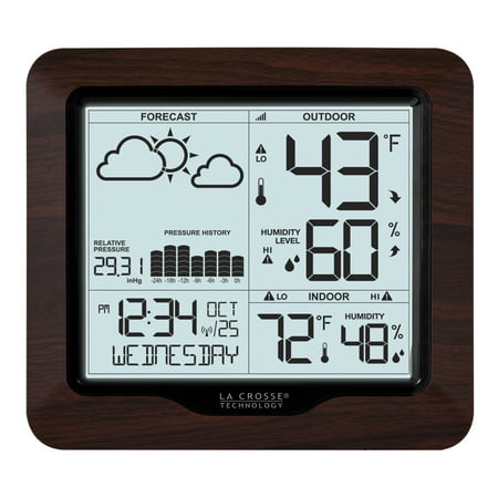 La Crosse Technology 308 1417Bl Backlight Wireless Forecast Station With Pressure History