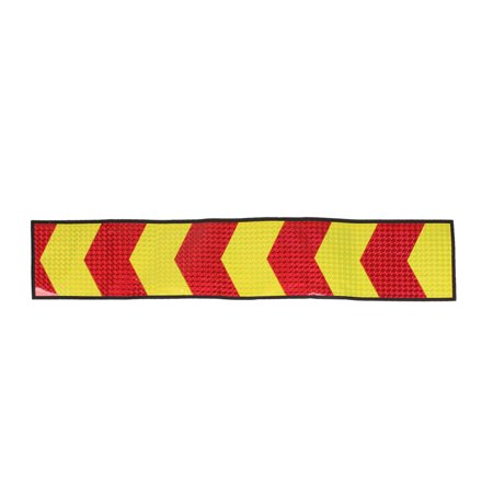 Unique Bargains 2 Pcs Yellow Red Plastic Arrows Print Bling Bling Vehicle Decal Sticker](Plastic Bling)