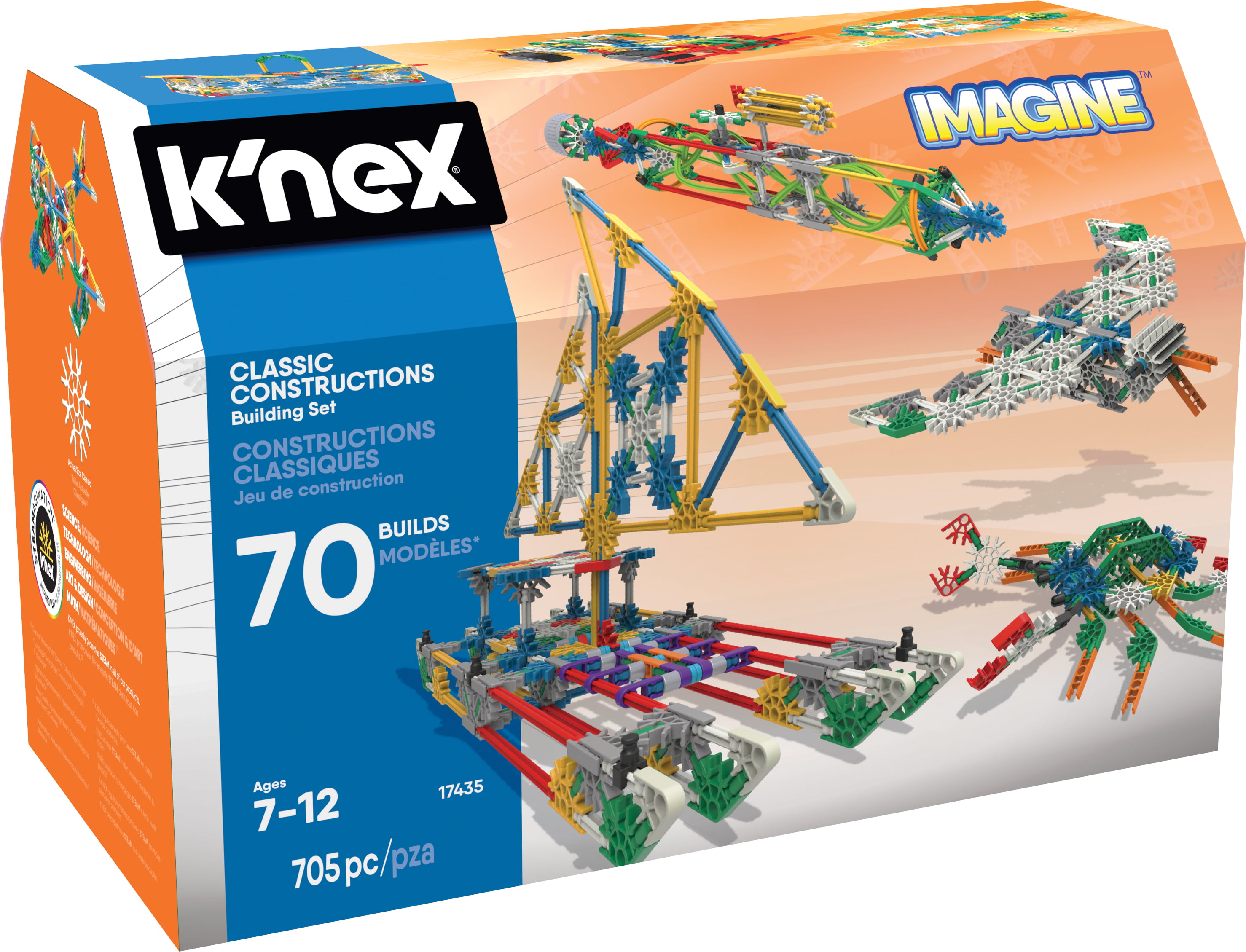 KNEX IMagine Classic Constructions 70 Model Building Set by K'NEX