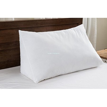 Set of 2 - Wedge Pillow - 100% Cotton Shell - for Bed, Couch, Floor