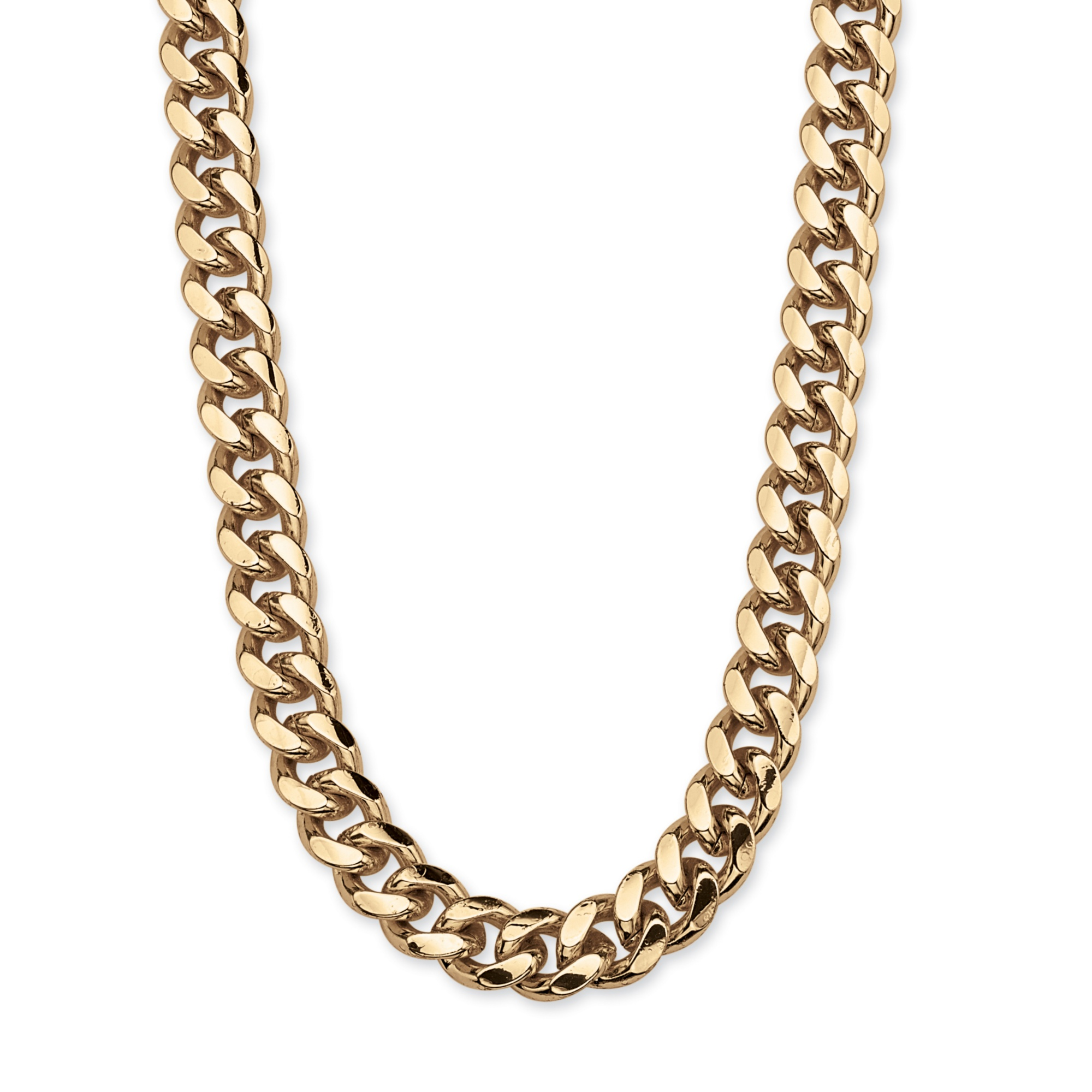 Men's Curb-Link Chain in Yellow Gold Tone 30""