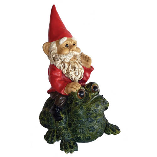 Michael Carr Garrold Gnome on Toad Statue