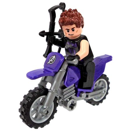 LEGO Marvel Captain America: Civil War Hawkeye Minifigure [with Motorcycle]