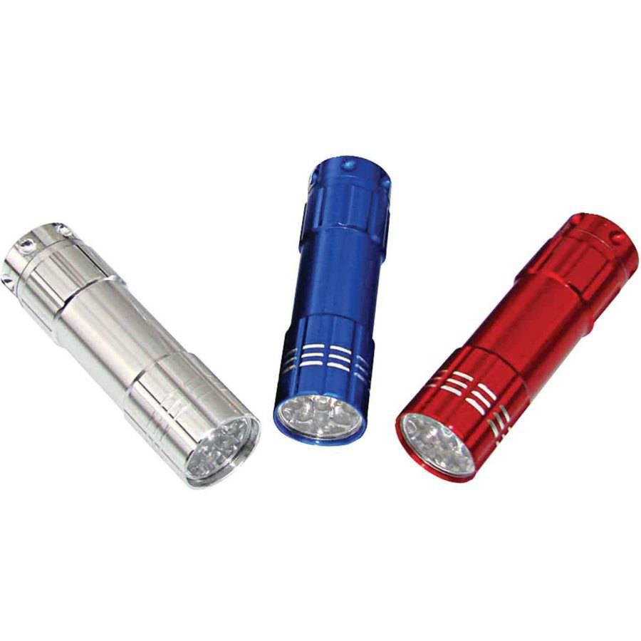 Dorcy 41-3246 9-LED Aluminum Flashlights, 3pk
