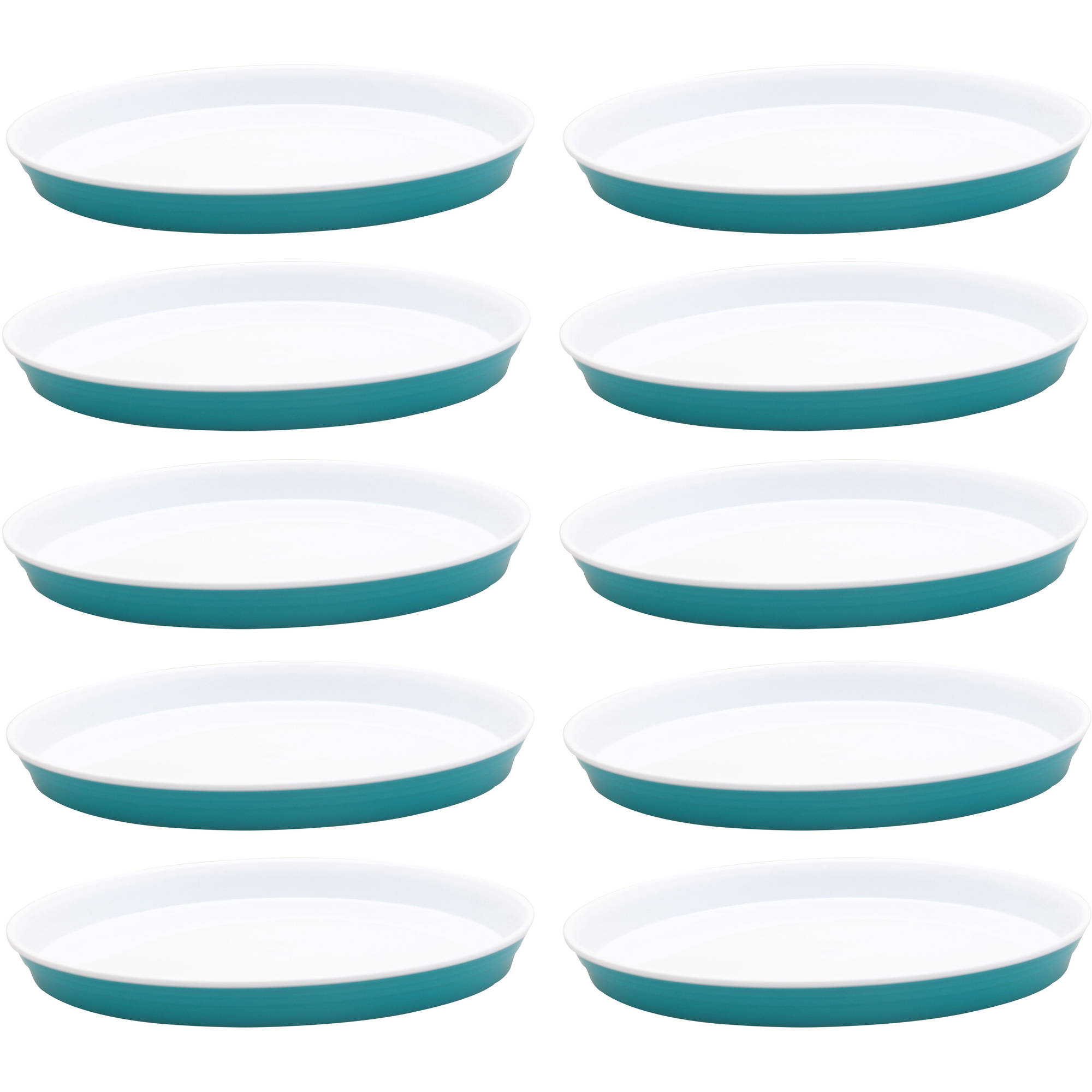 Better Homes and Garden Party Plates 10-Pack, Teal