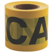 Empire Level 272-71-0301 Safety Barricade Tape, 3 x 300 ft. Caution, Yellow With Black Print, Econo Grade