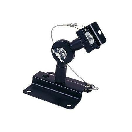 Black Mini Speaker Mount Bracket (Monoprice Adjustable 33 lb. Capacity Speaker Wall Mount Brackets (Pair), Black )