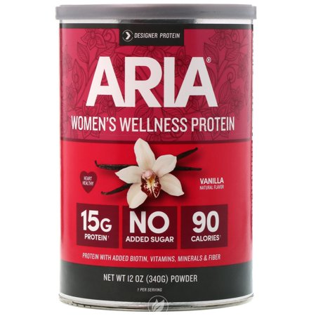 Designer Whey Aria Womens Protein Supplement Vanilla 12 Ounce, Pack of 2
