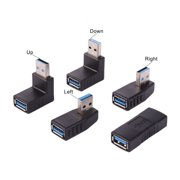 USB 3.0 Converter Extender Cable Adapter Male To Female Extension Connector Up Down Right Left For Laptop PC