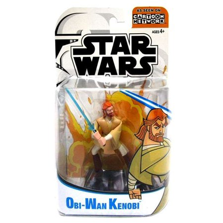 Star Wars Clone Wars Cartoon Network Obi-Wan Kenobi Action Figure