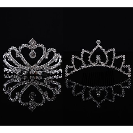 AshopZ Girls 2 Piece Set Lovely Princess Wedding Tiara Crown Comb w/ -