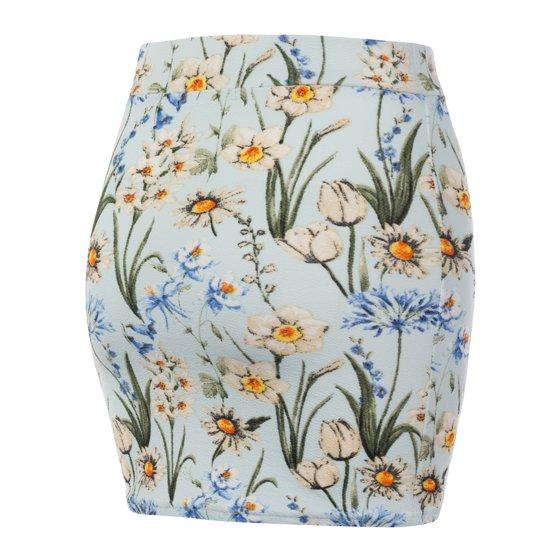 11a0b266997 Doublju - Doublju Women s Stretch Knit Bodycon Mini Skirt ...