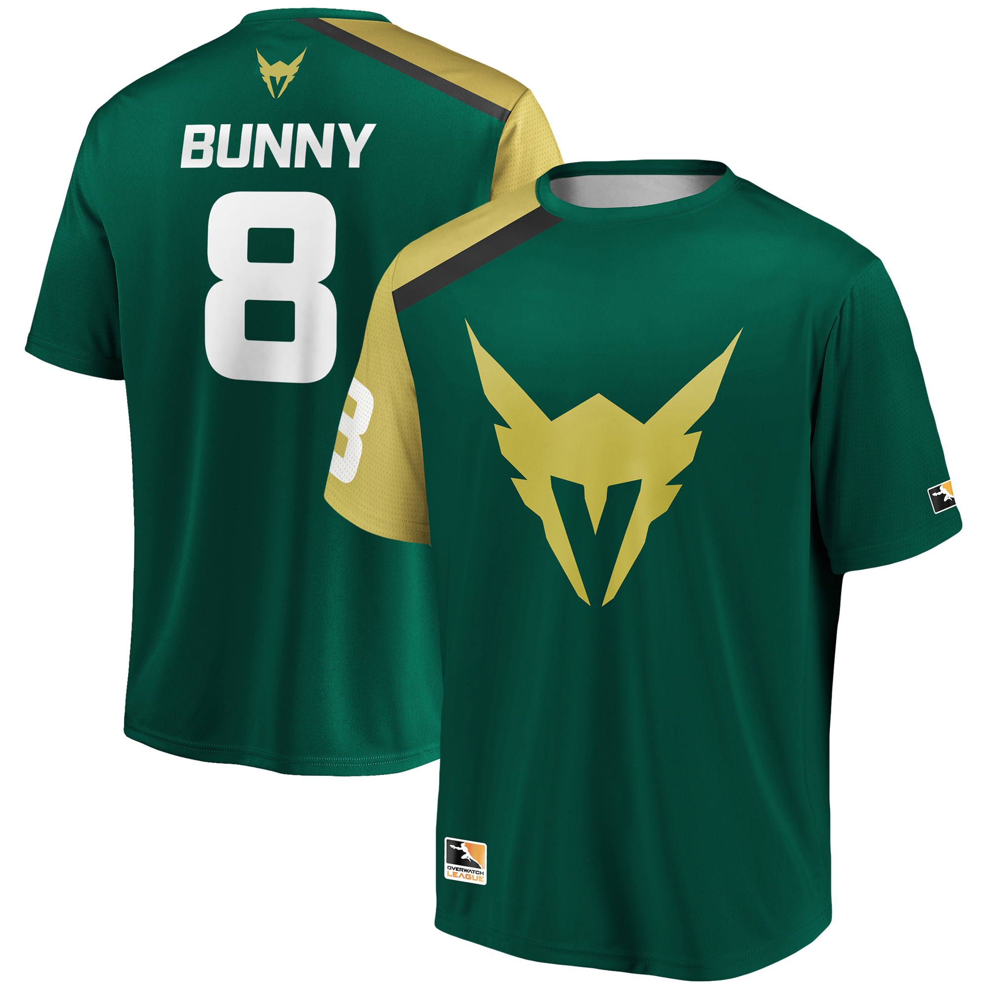 Bunny Los Angeles Valiant Overwatch League Replica Home Jersey - Green