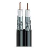VEXTRA V621QBB Quad Shield RG6 Solid Copper Coaxial Cable Black