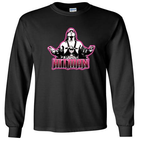 LONG SLEEVE Shedd Shirts Black Bret Hart WWF WWE