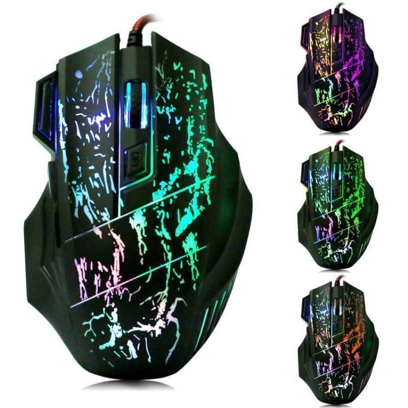 Zimtown 5500 DPI 7 Button LED Optical USB Wired Gaming Mouse Mice For Pro Gamer PC US