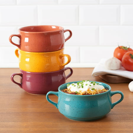 Mainstays Multi Color Speckled Stoneware Double Handle