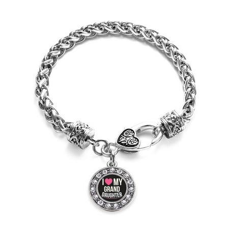 I Love my Granddaughter Circle Charm Braided Bracelet Circle Of Love Charm