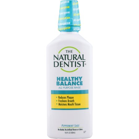 The Natural Dentist Healthy Balance All-Purpose Rinse, Peppermint Sage, 16.9 Oz Bottle