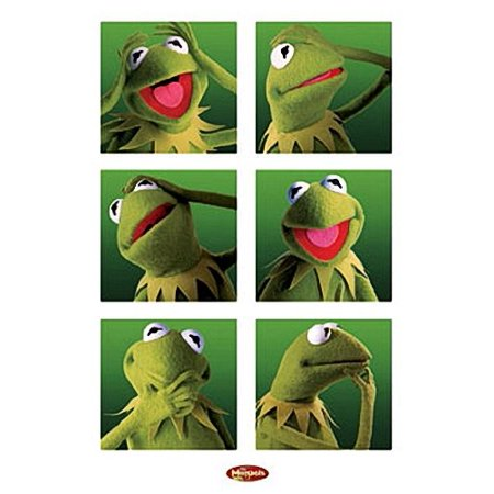 Muppets Poster - Funny Kermit Collage - New 24x36