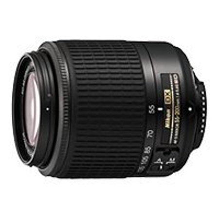 Nikon Zoom-Nikkor - Telephoto zoom lens - 55 mm - 200 mm - f/4.0-5.6 G ED AF-S DX - Nikon F - for Nikon D200, D2Xs, D3, D300, D3000, D3s, D3X, D40, D50, D5000, D60, D70, D700, D80,