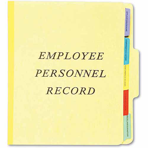 Esselte Pendaflex Vertical Personnel Folders, 1/3 Cut Top Tab, Letter, Yellow