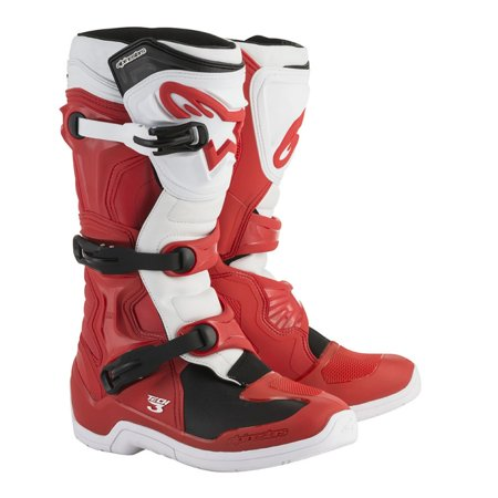 Alpinestars Tech 3 Mens MX Offroad Boots Red/White