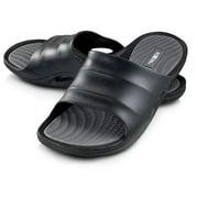 Roxoni Men's Comfort Open Toe Slide Sandals, Anti Skid Rubber Sole, -sizes 8 to 13 -style #1245