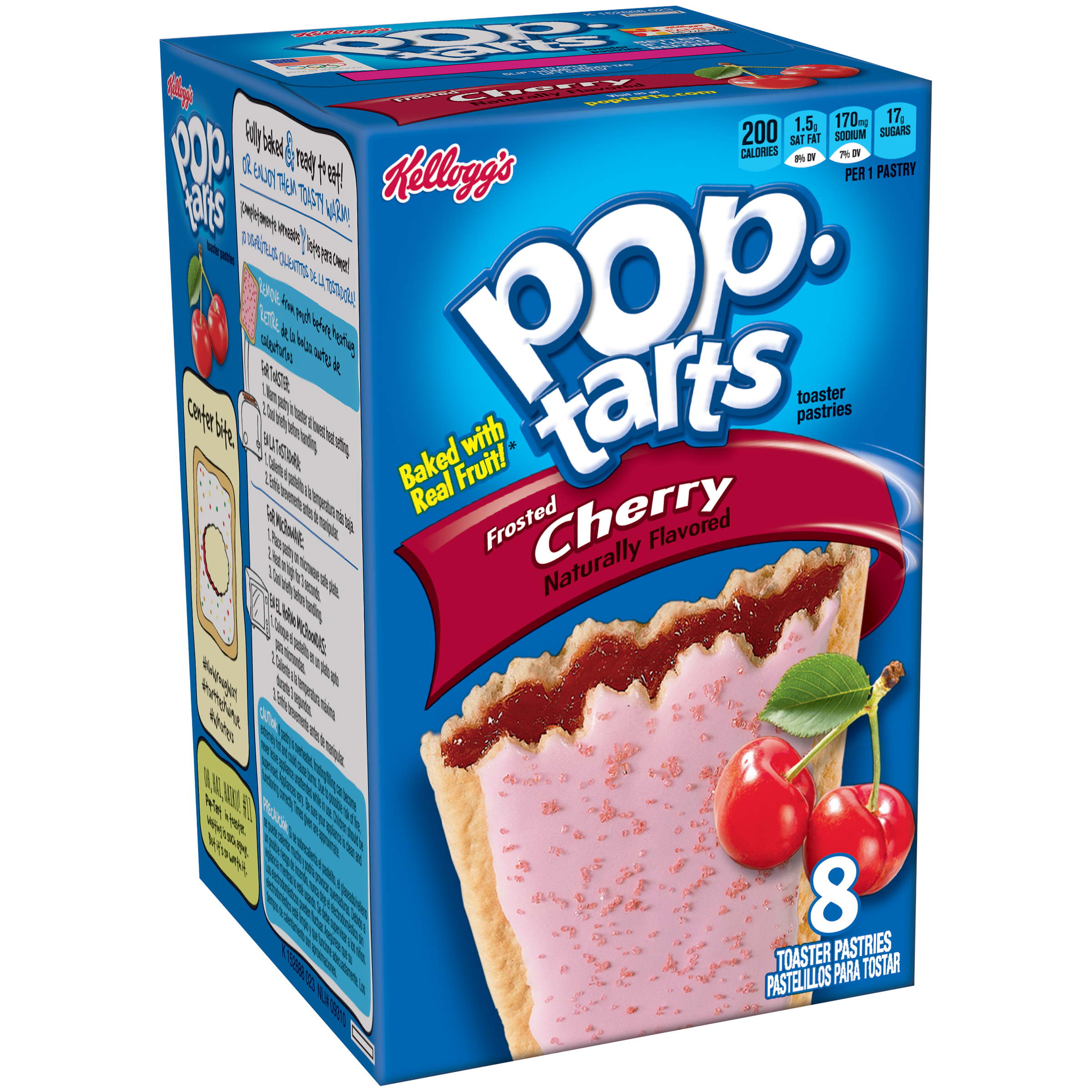 Kellogg's Pop-Tarts Frosted Cherry Toaster Pastries 8 ct 14.7 oz