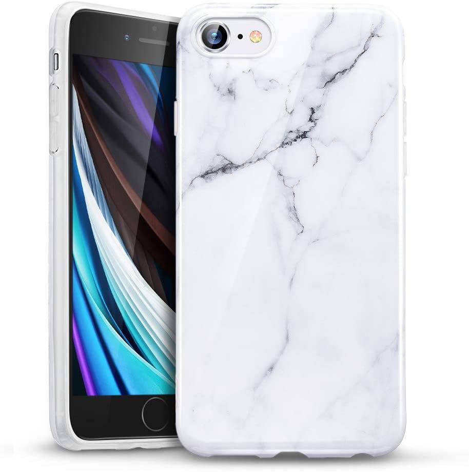 ESR Marble Case Compatible with iPhone SE/8/7, Slim Soft Flexible ...