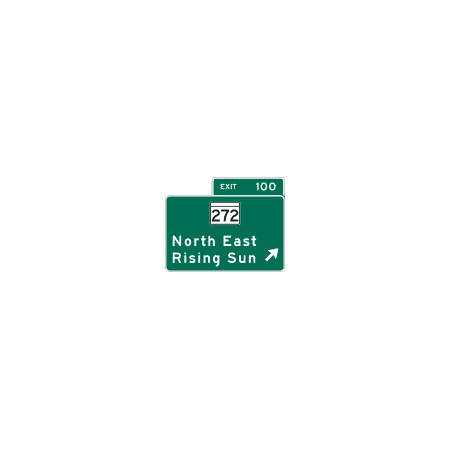 Traffic Signs - Interchange exit direction, Maryland 12 x 18 Peel-n-Stick Sign Street Weather Approved -