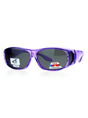 42b02c314 Product Image SA106 Polarized Antiglare 63mm Fit Over Rhinestone Womens  Sunglasses Purple