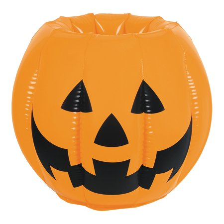 Fun Express - Inflatable Jack Lantern Cooler for Halloween - Toys - Inflates - Inflatable Coolers - Halloween - 1 Piece - Citrouille Halloween Jack