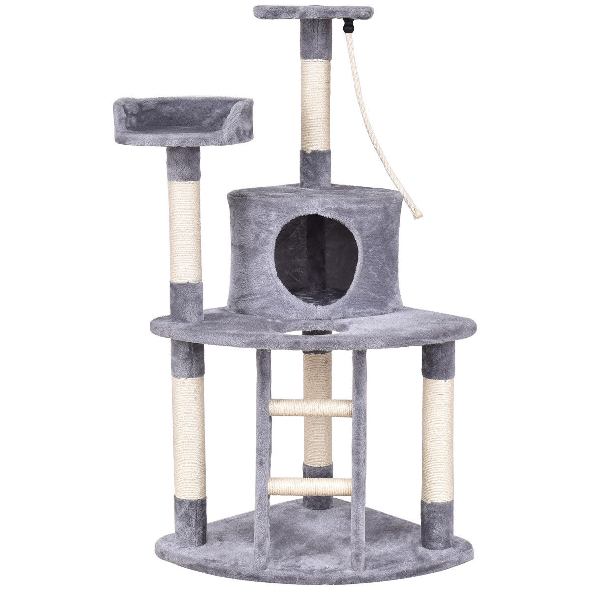 Gymax 48'' Cat Tree Kitten Activity Tower Furniture Condo Perches Scratching Posts Rope