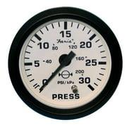 "Faria 12903 Euro Water Pressure Gauge Kit 30 PSI - White, 2"""