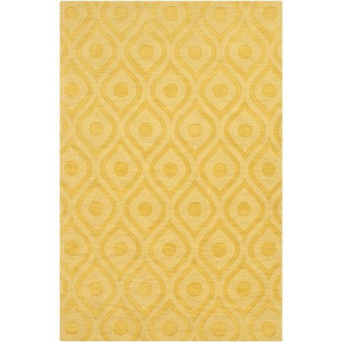 Wrought Studio Castro Hand Woven Wool Yellow Area Rug