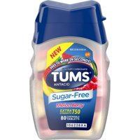 2 Pack Tums Sugar-Free Antacid Melon Berry, 80 Chewable Tablets Each