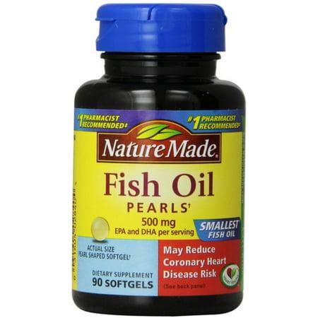 Nature Made oméga-3 Perles, 500 mg gélules 90 e bis (Lot de 4)