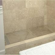 """Tile Redi RT4860L-PVC3 Brushed Nickel Redi Trench 48"""" X 60"""" Rectangular Shower Base"""