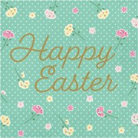 Creative Converting Floral Tea Party Easter Napkins, Pack Of 16