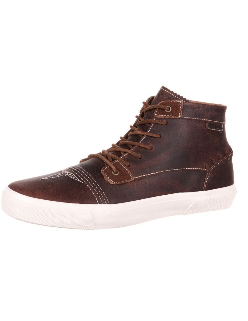 Durango Casual Shoes Mens Music City Bucklacer Round Toe Brown DDB0116 by Durango