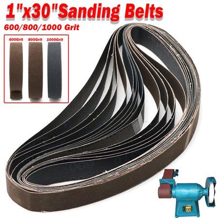 15pcs 1x30 Inch Sanding Belts 600/800/1000 Grit Grinding Polishing Wheels Aluminum Oxide Sandpaper Sand