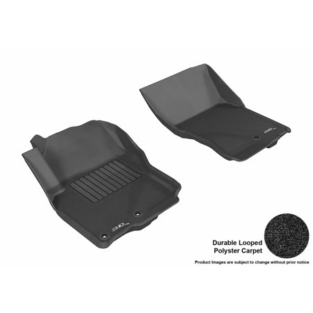 Truck Standard Cab Carpet - 3D MAXpider 2005-2017 Nissan Frontier Crew/ King Cab Front Row All Weather Floor Liners in Black Carpet
