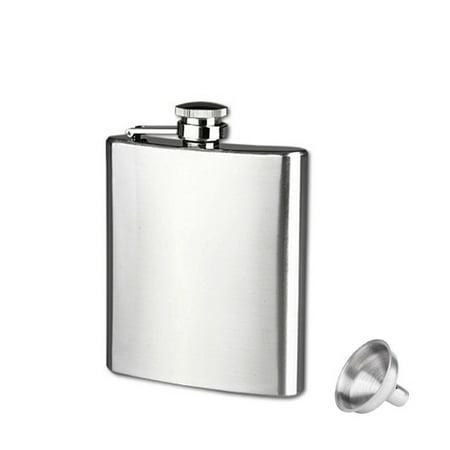 7oz Stainless Steel Pocket Hip Flask Alcohol Whiskey Liquor Screw Cap