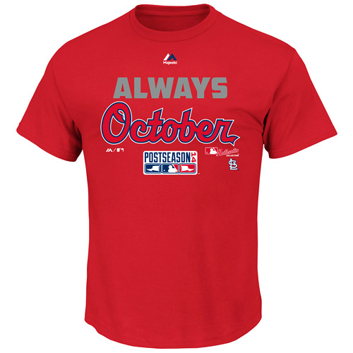 St. Louis Cardinals Majestic Youth Always October T-Shirt - Red - M